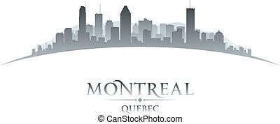 カナダ, 都市, イラスト, silhouette., スカイライン, ベクトル, ケベック, モントリオール