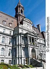 カナダ, 都市, 古い, 国民, サイト, 歴史的, ホール, モントリオール
