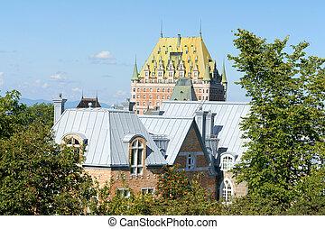 カナダ, 都市, 屋根, ケベック
