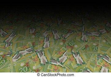 カナダ, 20, vimy, 2012, 紙幣, 重合体, カナダ, 記念, 国民, ドル, パターン