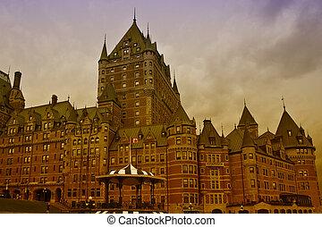 カナダ, frontenac, ケベック, de, 城