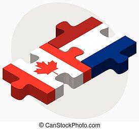 カナダ, netherlands, 旗