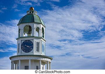 カナダ, scotia, 時計, nova, 丘, ハリファックス, タワー, 要さい