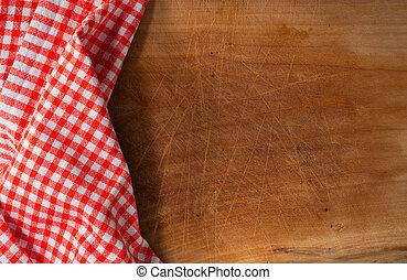 カバーされた, テーブルクロス, まな板