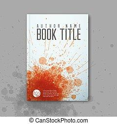カバー, ベクトル, 現代, abstractbook, テンプレート