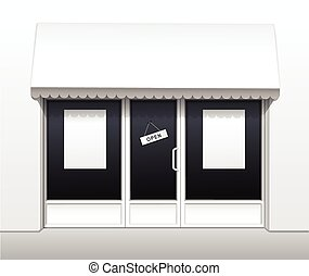 カフェ, 店, 外面, ベクトル, レストラン, 前部