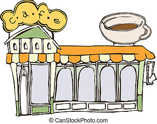カフェ, 通り