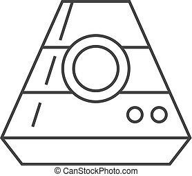 カプセル, アイコン, -, アウトライン, スペース