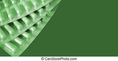 カプセル, 緑の色合い