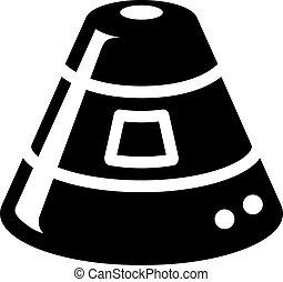 カプセル, bw, -, アイコン, スペース