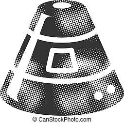 カプセル, -, halftone, アイコン, スペース