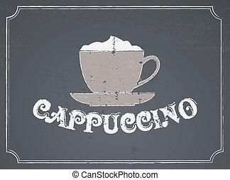 カプチーノ, デザイン, 黒板