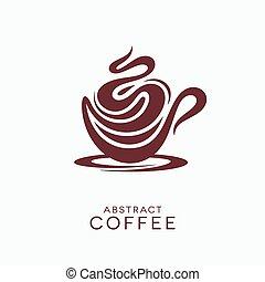 カプチーノ, 泡だらけ, コーヒー, 概念, 抽象的