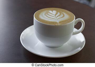 カプチーノ, 芸術, coffee., カップ, latte, ∥あるいは∥