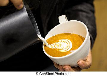 カプチーノ, 芸術, latte