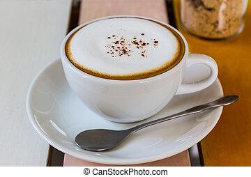カプチーノ, coffee., カップ