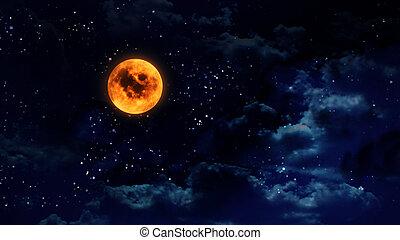 カボチャ, オレンジ月, 広く