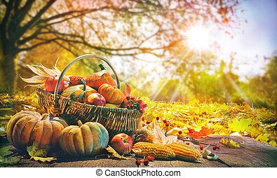 カボチャ, 背景, 感謝祭