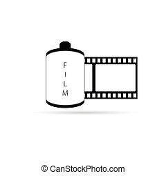カメラフィルム, アイコン, ベクトル, イラスト