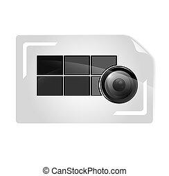 カメラマン, カード, テンプレート, ビジネス