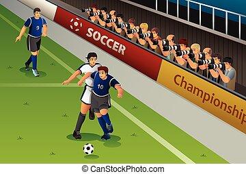 カメラマン, サッカー, 競争