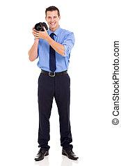 カメラマン, スタジオ, 若い