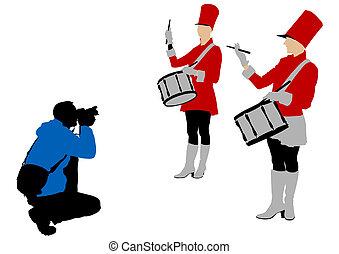 カメラマン, ドラム