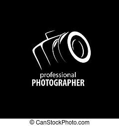 カメラマン, ロゴ, ベクトル