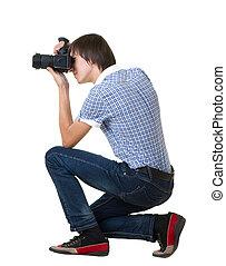 カメラマン, 人