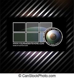 カメラマン, 名刺, テンプレート