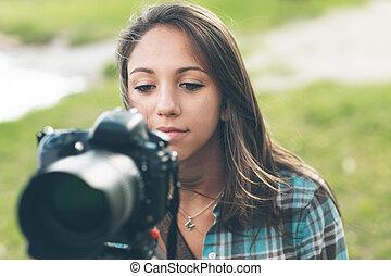カメラマン, 若い, videomaker