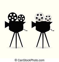 カメラ, ∥で∥, フィルム, テープ, 回転しなさい, イラスト