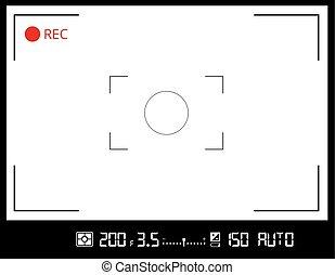カメラ, スクリーン, viewfinder