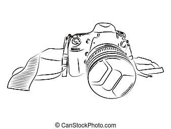カメラ, スケッチ