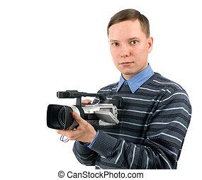 カメラ, ビデオ, 若者, デジタル