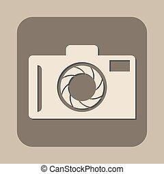カメラ, ベクトル, アイコン