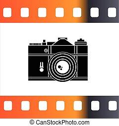 カメラ, ベクトル, イラスト