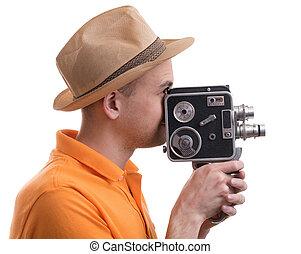 カメラ, レトロ, 人