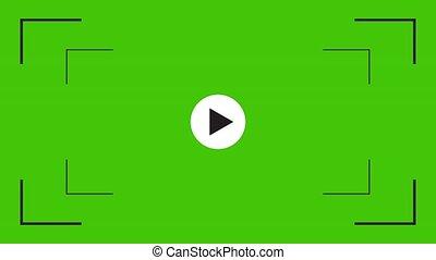 カメラ, 上塗り, アイコン, greenscreen