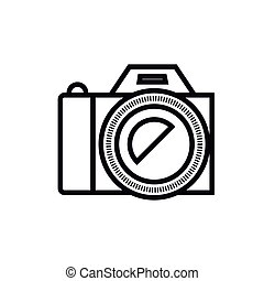 カメラ, 写真撮影, 隔離された, アイコン, デザイン