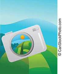 カメラ, 取得, 屋外, 写真撮影