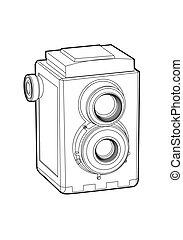 カメラ, 古い, クラシック