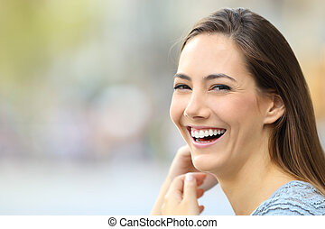 カメラ, 微笑の 女性, 幸せ, 肖像画
