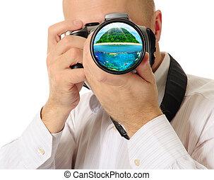 カメラ, 手掛かり, 人