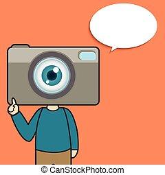カメラ, 特徴, 漫画, 人
