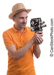 カメラ, 観光客, レトロ
