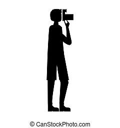 カメラ, 観光客, photograpy, 人