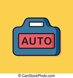 カメラ, autofocus, ベクトル, アイコン