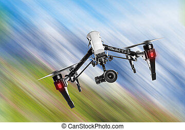 カメラ, flying., 4k, 無人機