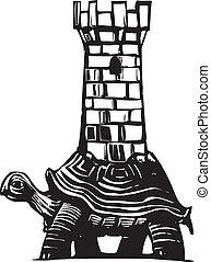 カメ, タワー